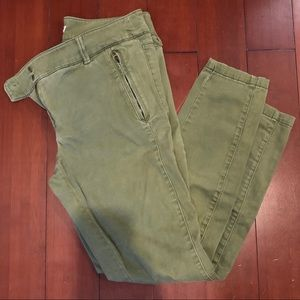 Loft Olive Sanded Sateen Chinos in Marissa Fit